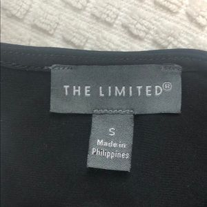 The Limited Tops - The Limited Ruffled Black Blouse Size Small